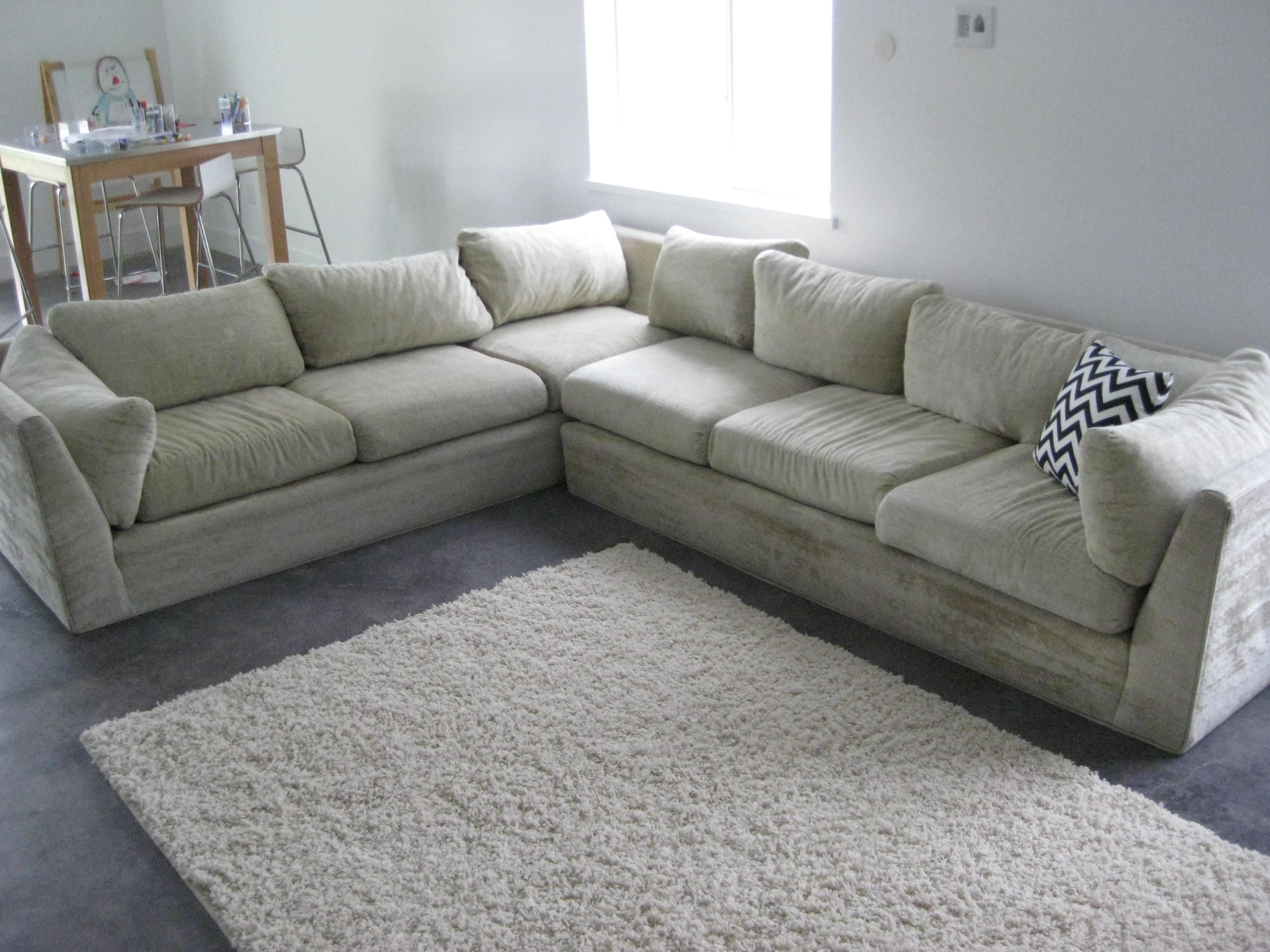 40 Year Old Sofa Sectional Reupholstered